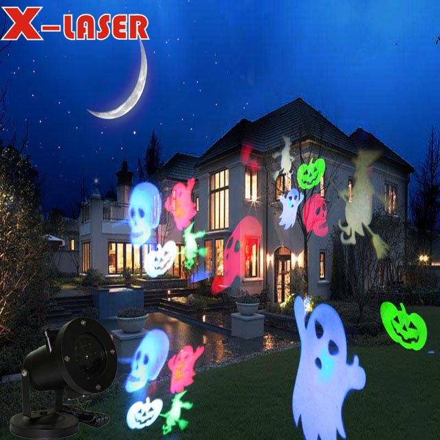 LED projector light with RGBW pattern for decoration of Christmas Halloween valentine's day