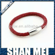 2014 Red genuine snake leather for making bracelet