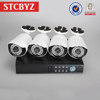 Home surveillance outdoor and indoor IR camera cheapest ahd dvr kit