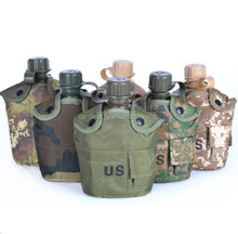CS Wholesale Camouflage 3 in 1 Tactical Hydration Pack Water Pouch Drinking Bottle Outdoor Military Aluminium Canteen Bag