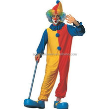 New Design sexy clown costume high quality halloween Colorful Clown Adult Costume AGM269