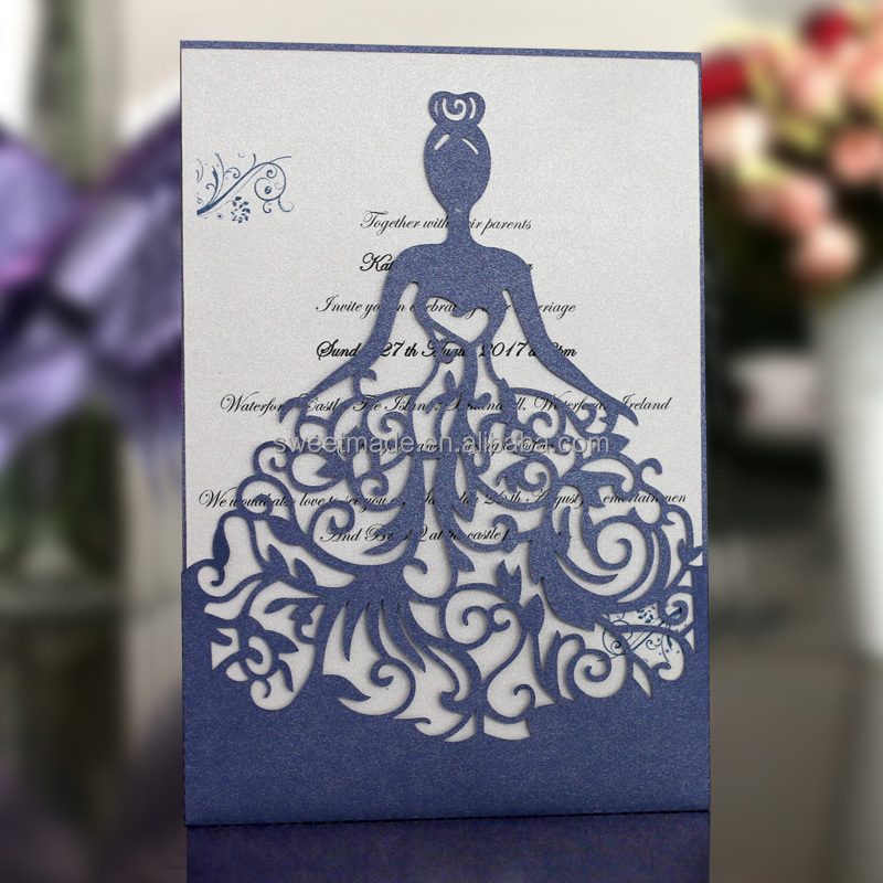 2016 Latest Design chinese laser cut sample pocket design invitation card wedding with envelope