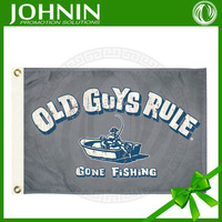 customized decorative OEM 75D polyester fashional cheap Fishing Boat Used Safety Flags