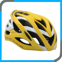 nice yellow riding bike helmet,cool crash racing helmet for cyclist