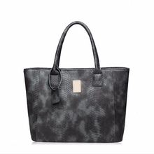 LUXURY!Real leather snake-print high capacity mexican leather handbags latest model, daily use handbags