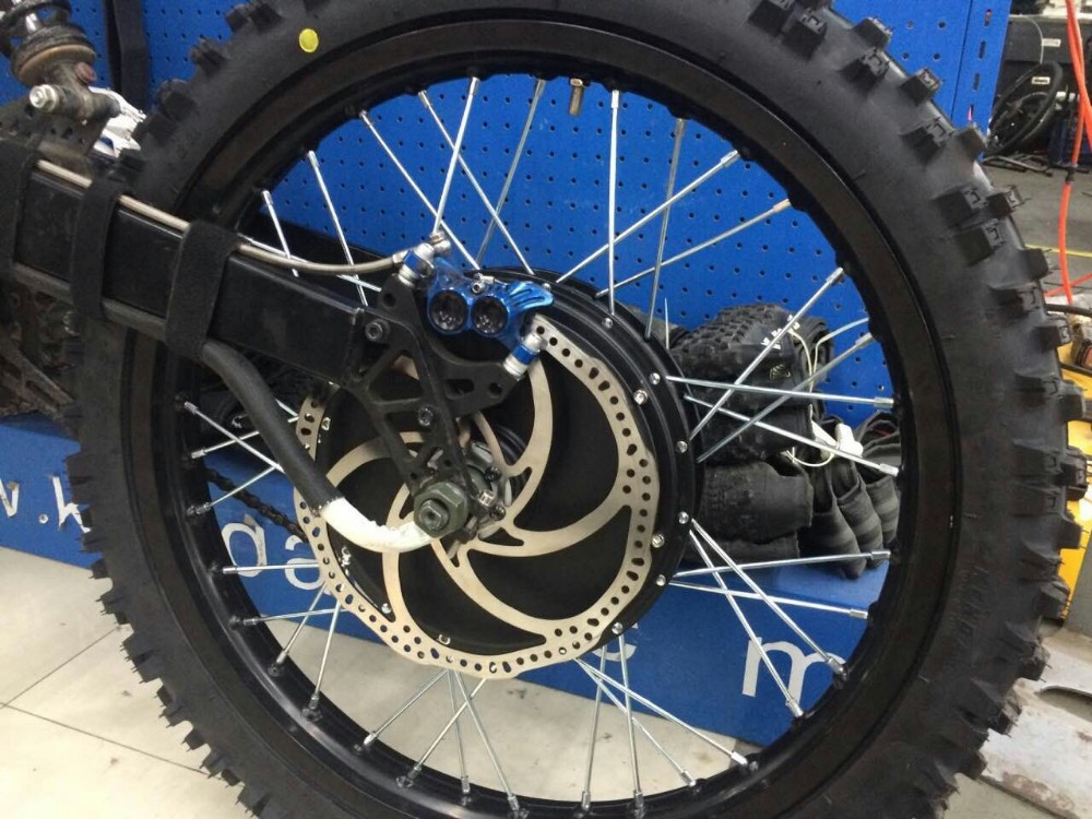Front & Rear Moped Wheel Rim Assembly Set