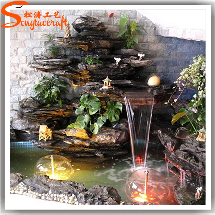 2015 guangzhou professional factory make cheap garden for Cascadas para jardin piedra