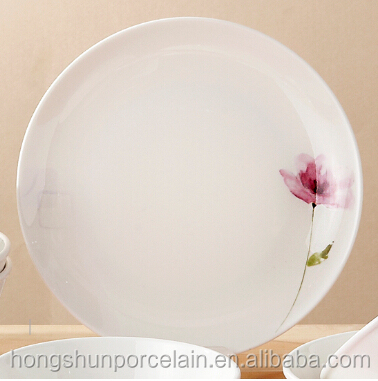 beautiful design high quality pink ceramic dinner <strong>plate</strong>