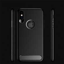 2017 Ultra Thin Simple Plain Skin Soft Silicone Carbon Fiber Phone Case For Samsung Galaxy J7/Note For iPhone X