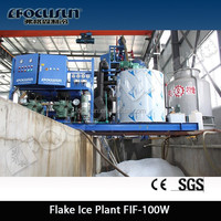 Focusun meat processing 5TPD 10TPD flake ice making machine