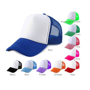 2018 Best Selling Sublimation Blank Mesh Cap Customized Trucker Hat for Promotion Travelling