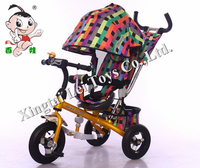 China push and ride control children tricycle 3 wheel baby tricycle with brake/kid tricycle