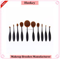 New 10pcs Beauty Toothbrush Shaped Foundation Power Makeup Oval Puff Brushes Set