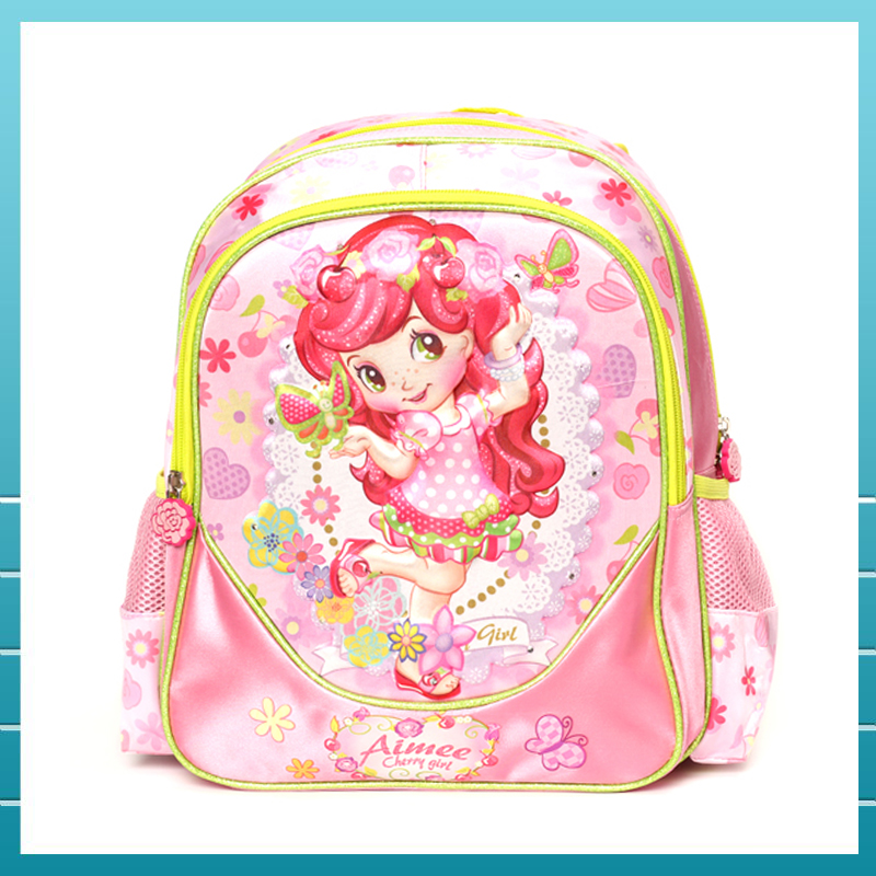 Hot promotion EVA 3D polyester child school bags with LED