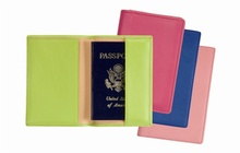 Colorful Fashion Leather Passport Card Case/Giveaway Card Holder