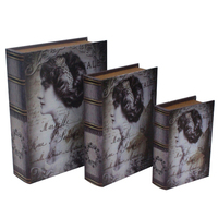 home decor book shape wooden gift box