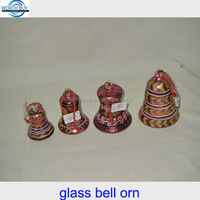 Vintage Christmas glass bell with glitter from China factory
