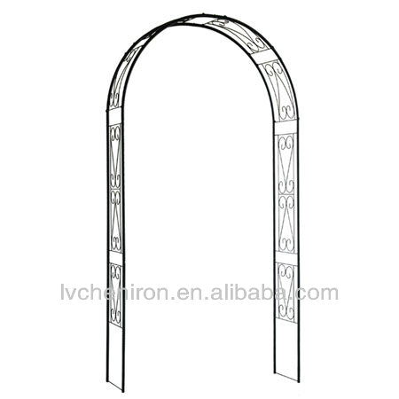 wrought iron rose metal garden arch