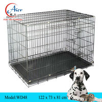 metal folding dog cage of cost performance