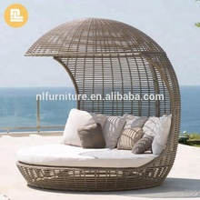 Chaise outdoor PE rattan furniture garden leisure lounge chair