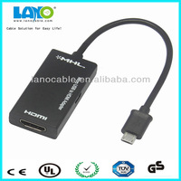 popular hdmi female to micro usb adapter converter cable for phone to HDTV