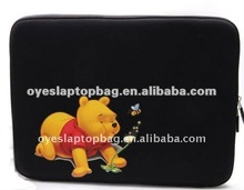 cartoons colorful neoprene laptop bag/ bear carton character laptop sleeve