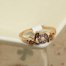 Rose Gold CZ ring does not fade simple finger ring female students love the simple formula