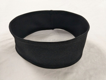 Solid Color Black Wide Thick Cotton Sweatband Sports Running Workout Yoga Fitness Hairband Elastic Hair Band
