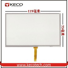 5 5.0 inch General 4 wire resistive 119*73 119mm*73mm AT050TN33 touch glass digitizer Screen