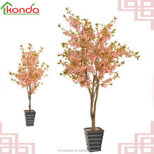 Artificial cherry blossom tree fake tree pink flowers for wedding decoration