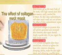 Beauty Essential Anti Aging Whitening Gold Collagen Crystal Tighten Up Skin Neck Mask