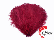 Wholesale plume crafts large dyed burgundy ostrich feather decorations
