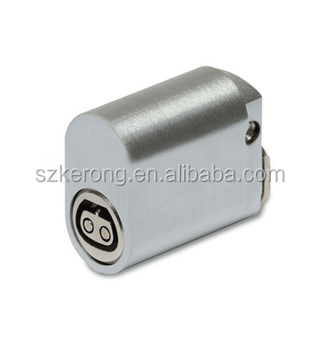 Double cylinder latch for security box