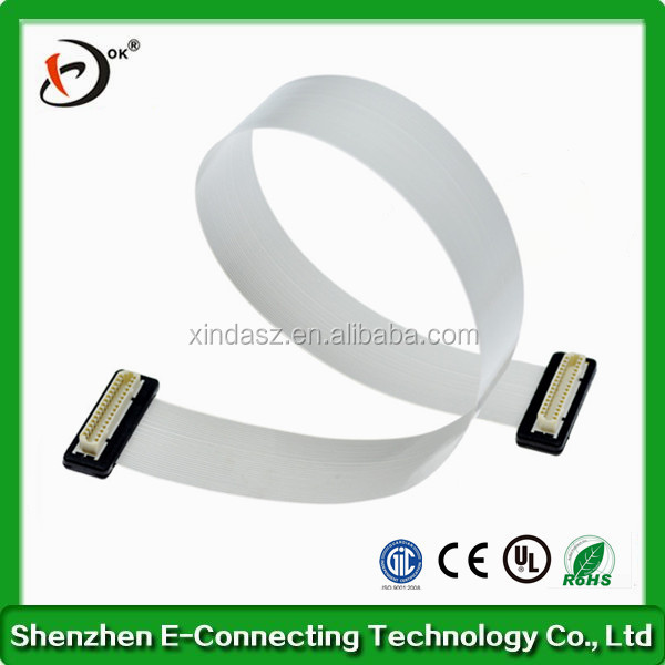 Customized FFC 80pin flat shielding cable with wings for Leapfrog 3D printers