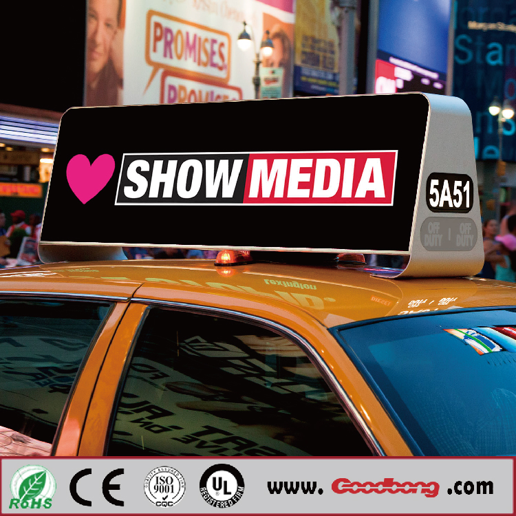 Car Roof Advertising Taxi Led Lighted Logo Sign