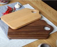 Kitchen accessories Black walnut chopping board serving tray fruit cooked tray