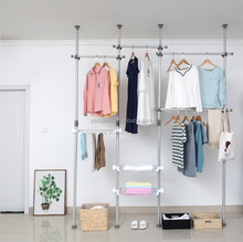 One touch adjustable hanging wardrobe, bedroom wardrobe, diy portable walk in closet wardrobe with pant hanger