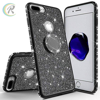 best selling 2019 mobile accessories 2019 ring holder phone case for iPhone plating TPU cover