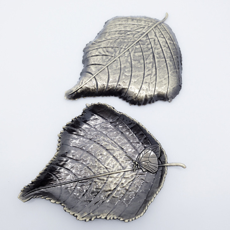 metal maple leaf butterfly shaped cup pad