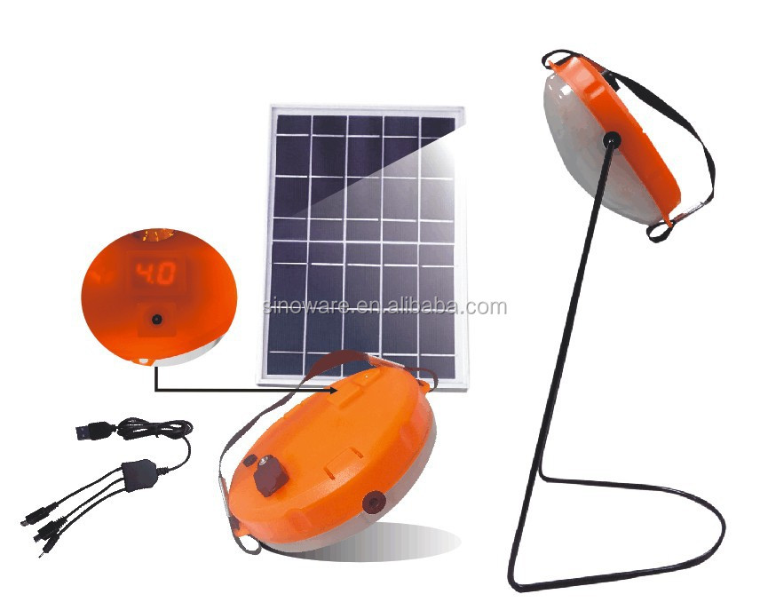 High power led camping lantern with 2.5W solar panel