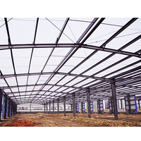 ISO & CE wide span light frame steel structure building prefabricated house sh