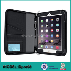 Executive leather PadFolio Tablet Case with Notepad Holder and Pockets for iPad 2,3,4, Air, Air 2 ,Pro 9.7,Pro 12.9 inch