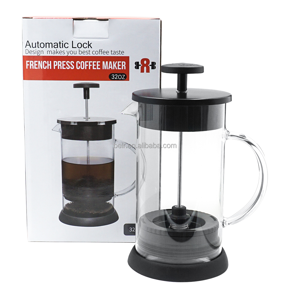 2017 New Premium French Coffee Press High Quality Coffee Plunger borosilicate coffee pot On Sale