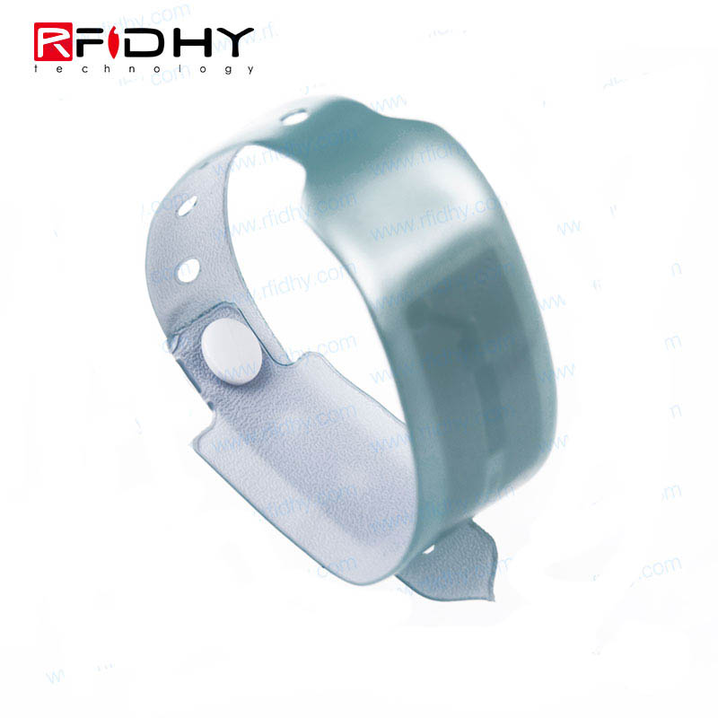 Hot Sale Waterproof Weave Logo Polyester Reusable RFID Wristband