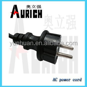 VDE Approved 3 Pin 13 Amp Electrical Plug Power Cable Wire/Multi Socket Extensional 2pin brass power cord 16 gauge copper wire