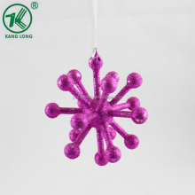 Glass hanging Snow flakes Ornaments for Christmas Tree Decoration