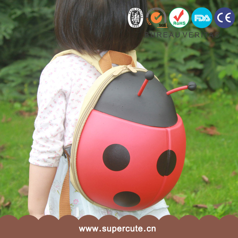 New Fashion kids backpack 2016 New Arrival Wholesale ladybug bagpack for Teens Girls boy