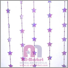Home decorative purple plastic bead star curtain