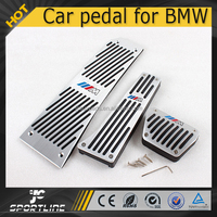 Aluminum Fuel Brake Foot Rest AT Pedals for BMW 5 Series F10,523 528i 535i 550i , 7 Series Non-drilling