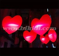 LED inflatable hanging red Heart Balloon /Large inflatable heart for wedding decoration C2013